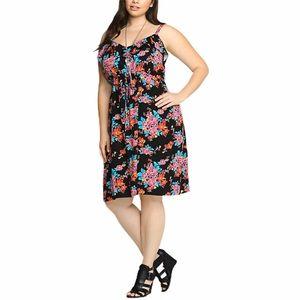 Torrid Floral Ruffle Challis Dress